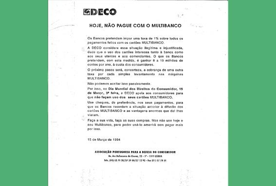 1994 – Primeiro boicote da DECO