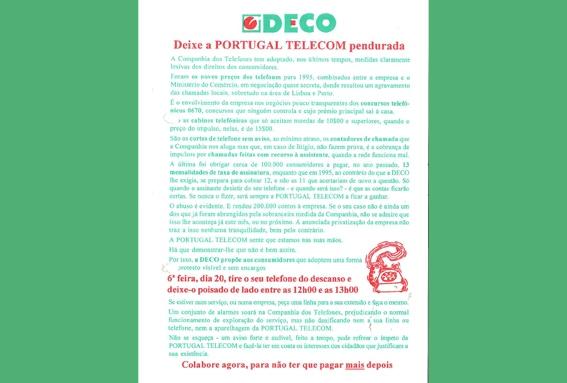 1995 – DECO contra Telecom Portugal
