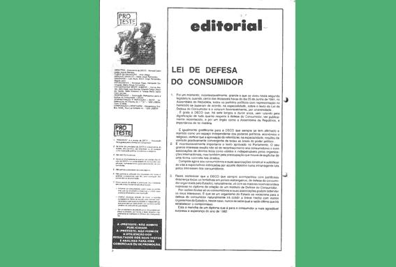 1981 – Lei de Defesa do Consumidor